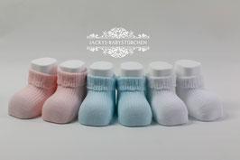 Babysöckchen in 3 Farben Gr.48-50 size 19`-20 inches Nr.SK016