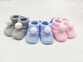 Babybooties mit Bommel Nr.FS0030