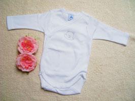 Babywickelbody in weiß Gr.50-56 Nr.JU006
