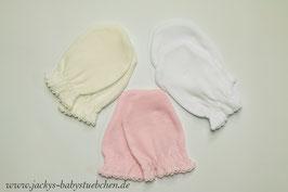 Fäustlinge/Kratzhandschuhe für Neugeborene in 3 Farben Gr.50 size HS001