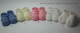 Feinstrickschuhe in 5 verschiedenen Farben Gr.50 size Newborn Nr.FS 005