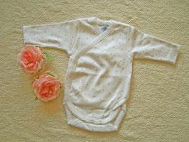 Babybody in weiß mit grauen Sternchen Gr.50 Nr.JU007