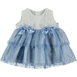 Babykleid mit Tüll und Schleifen Nr. SMSK010