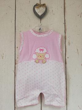 Babyromper in rosa-weiß mit Schaf Nr.OV008