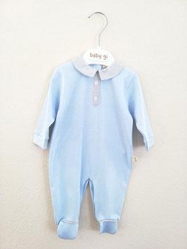 BABY GI Schlafanzug in blau mit Karo Nr.JSA005