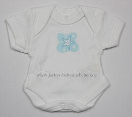 Baby Frühchenbody weiß mit blauen Stern Gr.42 Nr.701