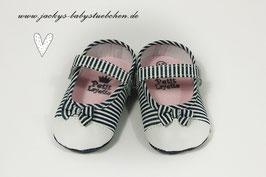 Babyschuhe in dunkelblau gestreift Gr.16 Nr.914