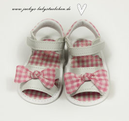 Baby Sandalen in weiß mit rosa Schleife Gr.16 Nr.913