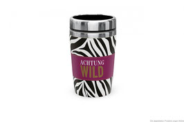 Thermobecher to go Achtung Wild