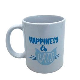 Tasse Happiness - blau