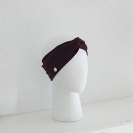 Haarband mit Knoten Dunkelrot