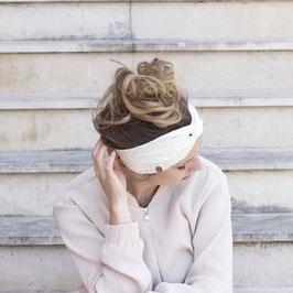 Stirnband mit Knoten Off White