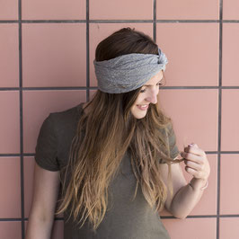 Stirnband mit Knoten Dusty Mint