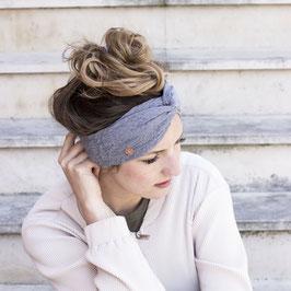 Stirnband mit Knoten Grey