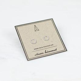 Ohrstecker Kreis Silber Mini