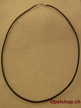 Lederhalsband schwarz L 43cm / Art.Nr. LS43