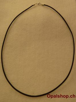 Lederhalsband schwarz 47cm / Art.Nr. LS47
