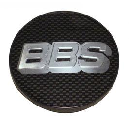 BBS Nabendeckel 56mm ohne Sprengring Carbon / Silber