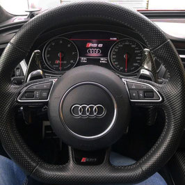 Schaltwippen Audi A6, S6, RS6 - 4G C7 - Carbon Schwarz - Variante 1