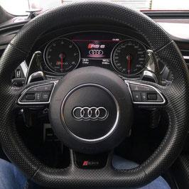 Schaltwippen Audi A4, S4, RS4 - B8 - Carbon Schwarz - Variante 1