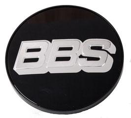 BBS Nabendeckel 56mm ohne Sprengring Schwarz / Silber