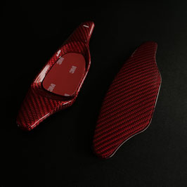 Schaltwippen Audi TT, TTS, TTRS -8J - Carbon Rot - Variante 1