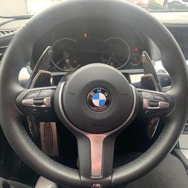 Schaltwippen BMW 6er F12 - F13 - F06 - Carbon Schwarz - Variante 2