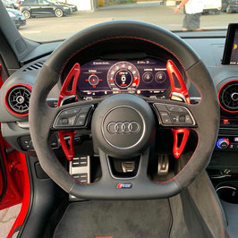 Schaltwippen Audi RS4 B9 Rot - Variante 1