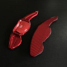 Schaltwippen Golf 6 DSG, GTD, GTI, R - Carbon Rot - Variante 1