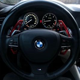 Schaltwippen BMW 5er - F10 - F11 - Alu Rot - Variante 1