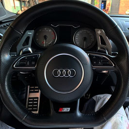 Schaltwippen Audi A6, S6, RS6 - 4G C7 - Alu Schwarz - Variante 1