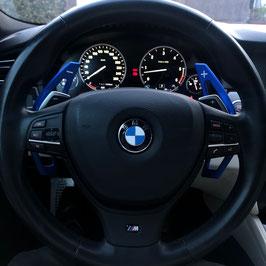 Schaltwippen BMW 5er - F10 - F11 - Alu Blau - Variante 1