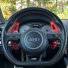 Schaltwippen Audi A6, S6, RS6 - 4G C7 - Alu Rot - Variante 1