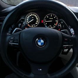 Schaltwippen BMW 5er - F10 - F11 - Alu Schwarz - Variante 1