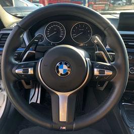 Schaltwippen BMW 5er - F10 - F11 - Alu Schwarz - Variante 2
