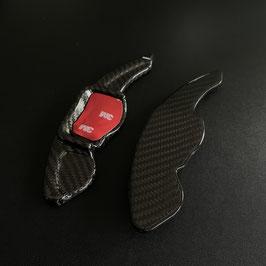 Schaltwippen Golf 6 DSG, GTD, GTI, R - Carbon Schwarz - Variante 1