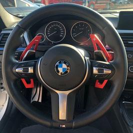 Schaltwippen BMW 5er - F10 - F11 - Alu Rot - Variante 2