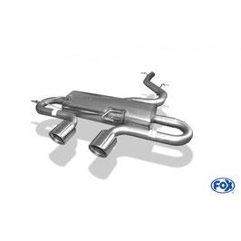 Fox Endschalldämpfer mittig Golf 6R