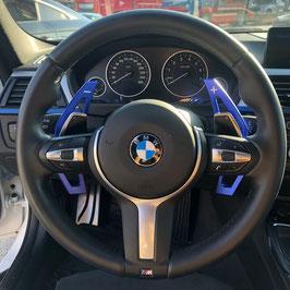 Schaltwippen BMW 5er - F10 - F11 - Alu Blau - Variante 2