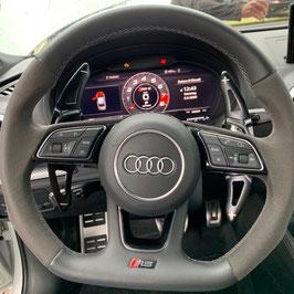 Schaltwippen Audi RS7 - 4K8 C8 - Alu Schwarz - Variante 1