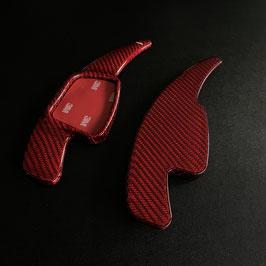 Schaltwippen Audi A4, S4, RS4 - B9 - Carbon Rot - Variante 2