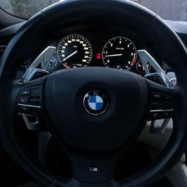 Schaltwippen BMW 6er F12 - F13 - F06 - Silber - Variante 1