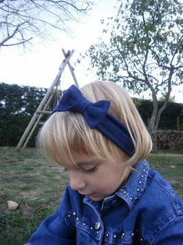 bandeau noeud bébé enfant fille bleu marine / taille naissance disponible