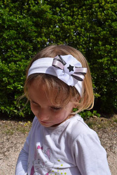 bandeau bébé fille étoile noire blanc rose paillette