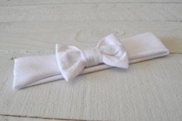 bandeau noeud bébé enfant fille blanc / taille naissance disponible