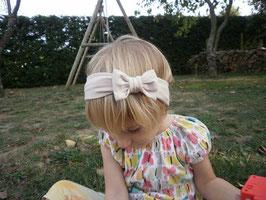 bandeau noeud bébé enfant fille camel  / taille naissance disponible