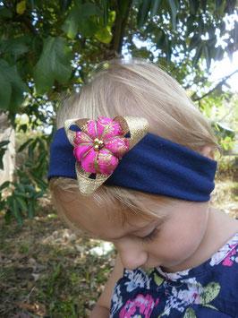 Bandeau bébé petite fille enfant fleur japonaise