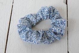 Chouchou cheveux en tissu Liberty bleu katie and millie
