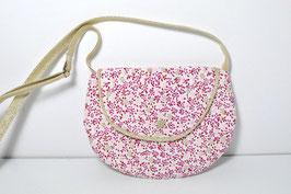 Petit sac à main fille enfant 2/10 ans tissu petites fleurs rose doré style liberty sac fillette printemps/été idée cadeau anniversaire noël