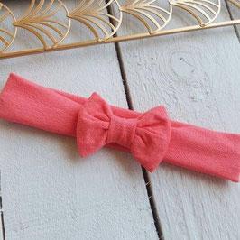 bandeau noeud bébé enfant fille corail / taille naissance disponible